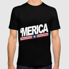 Merica Black Mens Fitted Tee SMALL