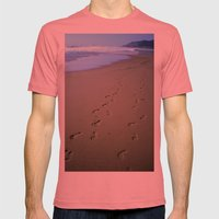 Footsteps in the Sand Mens Fitted Tee Pomegranate SMALL