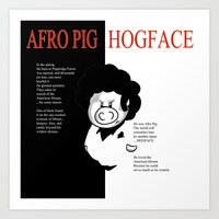 Hogface Art Print