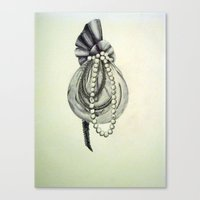 Pearly Lacyness Canvas Print
