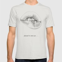 pleased to meet you ... Mens Fitted Tee Silver SMALL