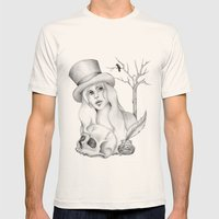 Mrs. Edgar Allan Poe Mens Fitted Tee Natural SMALL
