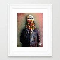 CHAPA CHOCLO (policemen) Framed Art Print
