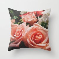 Every Rose Has Its Thorn Throw Pillow