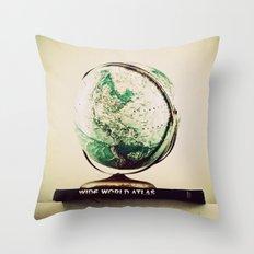 All Around the World  Throw Pillow