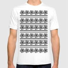 Flowers and stripes Mens Fitted Tee White SMALL