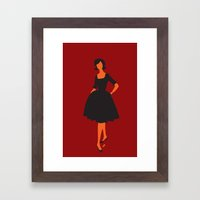lady 5 Framed Art Print