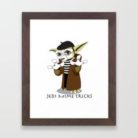 Jedi Mime Tricks Framed Art Print