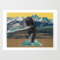 The Girl on the Mountain Art Print