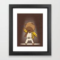 Teddy Mercury Framed Art Print