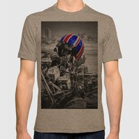 This is the modern world Mens Fitted Tee Tri-Coffee SMALL
