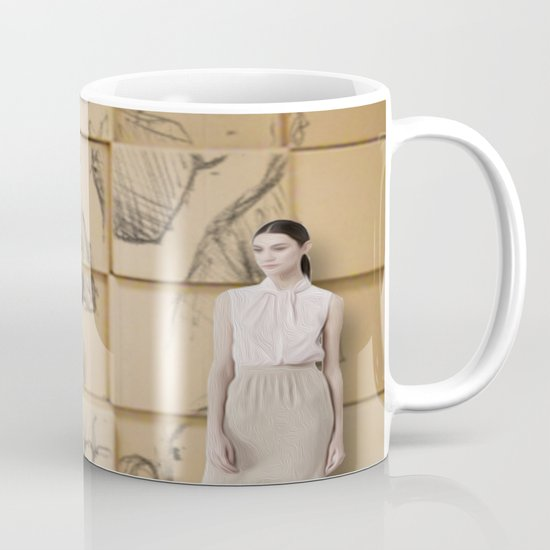 Space in Boxes with a model Mug