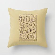 Jane Austen Covers: Pride and Prejudice Throw Pillow