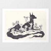 Le Loup Et Les Sept Chev… Art Print