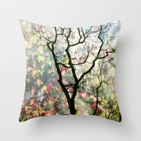 Passing Through, While looking for you Throw Pillow