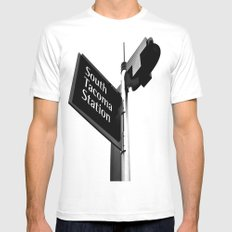 South Tacoma Station Mens Fitted Tee SMALL White