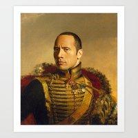 Dwayne (The Rock) Johnso… Art Print