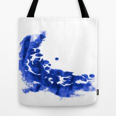 Paint 9 abstract indigo watercolor painting minimal modern canvas affordable dorm college art  Tote Bag