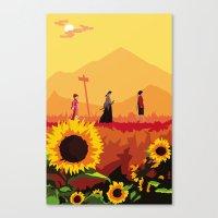 Journey to the Sunflower Samurai Canvas Print