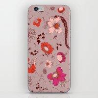 Large Floral Print - Pin… iPhone & iPod Skin