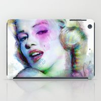 Marilyn under brushes effects iPad Case