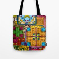 Colourful Collage Tote Bag