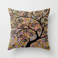 Abstract tree-11 Throw Pillow
