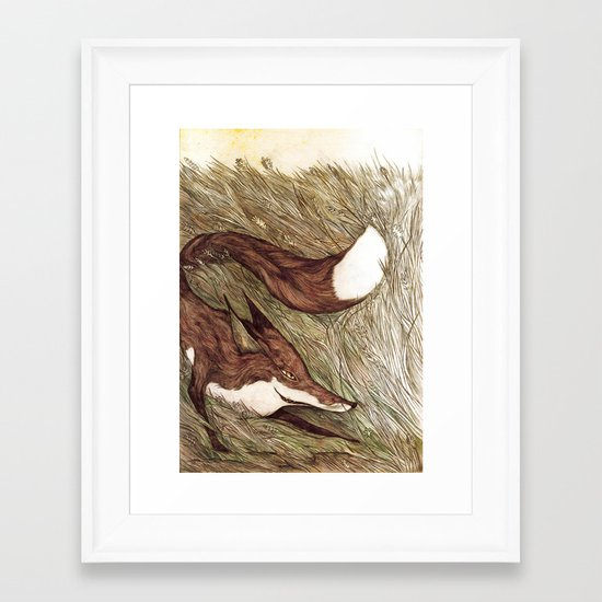 La Ruse du renard (The Sneaky Red Fox) Framed Art Print