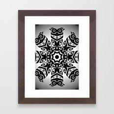 owl eyes open Framed Art Print
