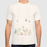 Christmas Baby Fox 04 Mens Fitted Tee Natural SMALL