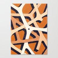 Mono Pattern | The Branc… Canvas Print