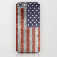 America Flag With Vintag… iPhone 6 Slim Case