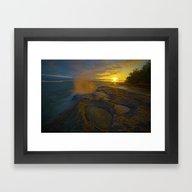 Morning Sunrise At The C… Framed Art Print