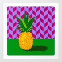 Fruit with Wallpaper (pineapple) Art Print