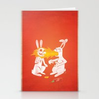 Fire Bunny Stationery Cards