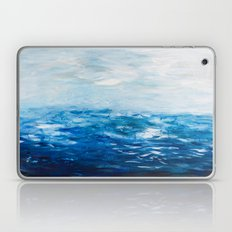Paint 10 abstract water ocean seascape modern painting dorm room decor affordable stretched canvas Laptop & iPad Skin