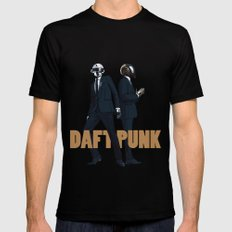 Daft Punk Black SMALL Mens Fitted Tee