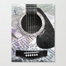 Printed Purple Guitar Canvas Print