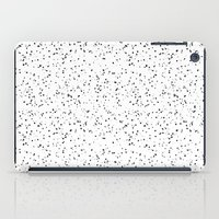 Speckles I: Black on White iPad Case