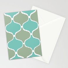 Marrakech Pattern Sea Green Stationery Cards