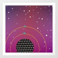 Rock my World Universe Art Print