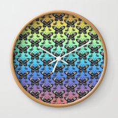 Butterfly pattern in color Wall Clock