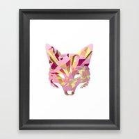 Land of fox Framed Art Print
