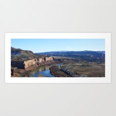 Horsethief Canyon from Lion's Loop Art Print