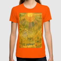 Castles Womens Fitted Tee Orange SMALL