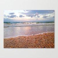 Seeing Seashells on this Seashore Canvas Print