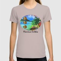 Flamenco Culebra Womens Fitted Tee Cinder SMALL