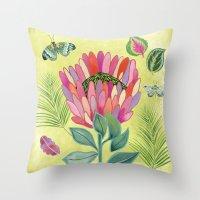 Protea Tropicana Throw Pillow