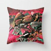 MOONROSE on RED ROSEMOON  Throw Pillow