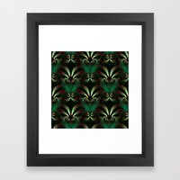 Jewels Of Garnet And Eme… Framed Art Print